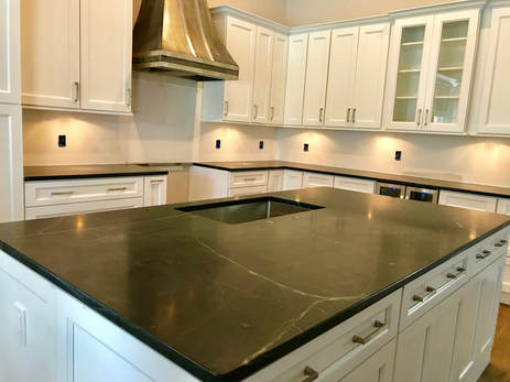 Black Soapstone Countertops in Orlando FL on dark cabinets with hardware, dark cabinets with backsplashes, dark granite countertops, dark marble countertops, dark grey countertops, dark cabinets black countertop, dark color laminate countertops, dark floors light cabinets dark countertops, dark cabinets with quartz,